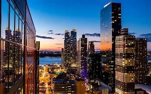 New york skyscrapers at night wallpaper