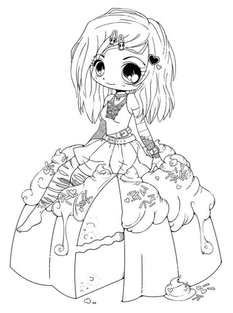 cute chibi coloring pages printable print color craft