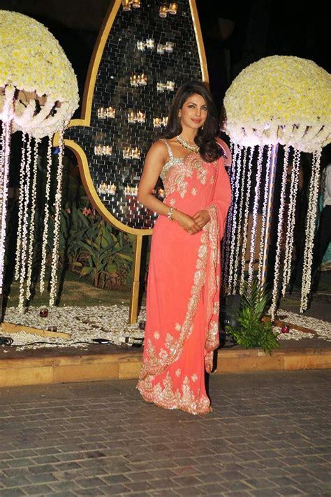 priyanka chopra saree stills  ridhi malhotra wedding
