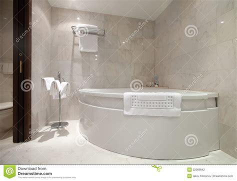 Bathroom With Corner Bathtub Stock Photo   Image of luxury