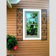 New Orleans Wrought Iron Exterior Window Shutters
