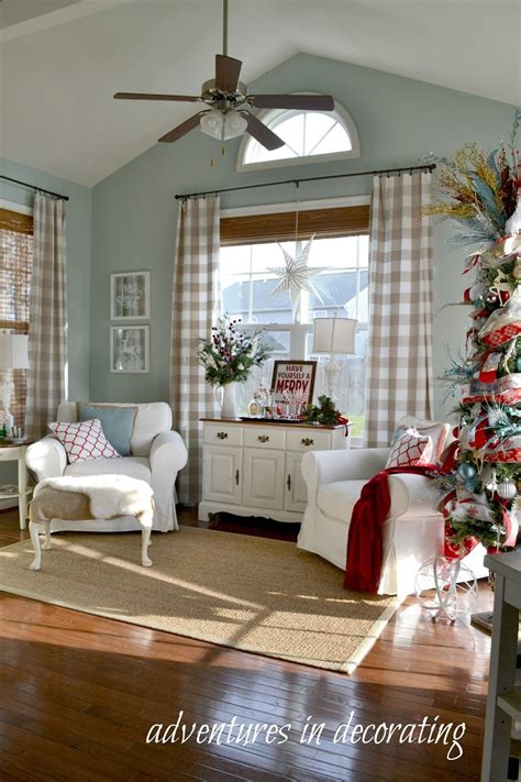 christmas sunroom beachy room decor home decor