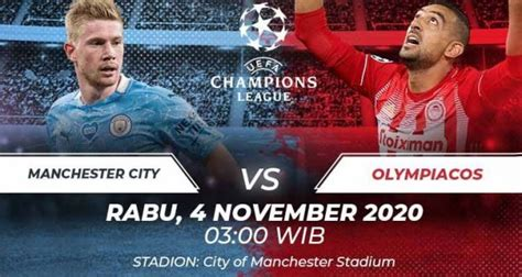 Link Live Streaming Manchester City vs Olympiakos, 4 ...