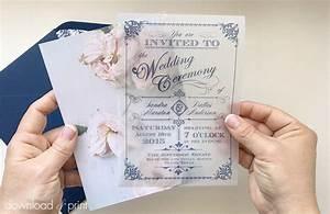 Diy translucent wedding invitation with vintage charm for Wedding invitation translucent paper