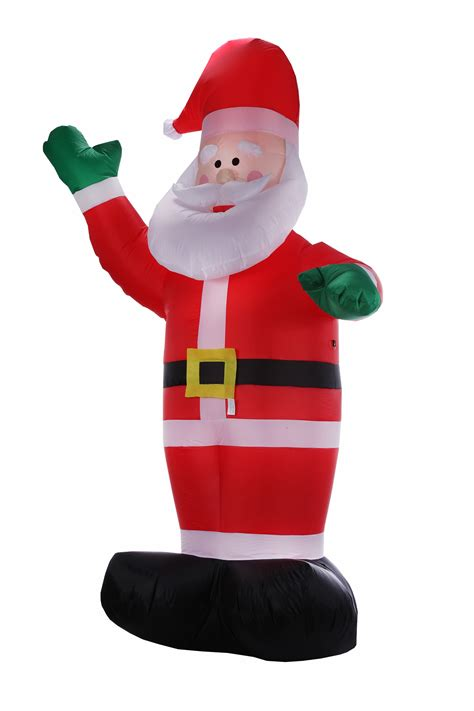 inflatables christmas homegear 8 ft santa claus air blown yard decoration ebay