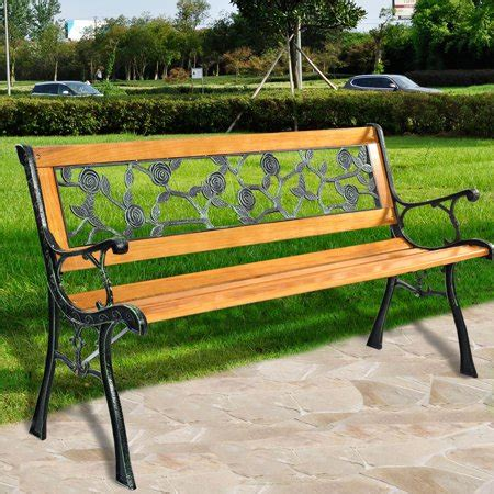 walmart garden bench costway patio park garden bench porch chair outdoor deck
