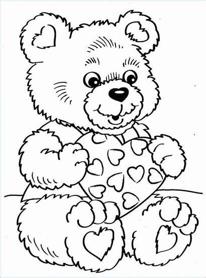 Coloring Valentines Bear Printable Christian Sweet Enjoy