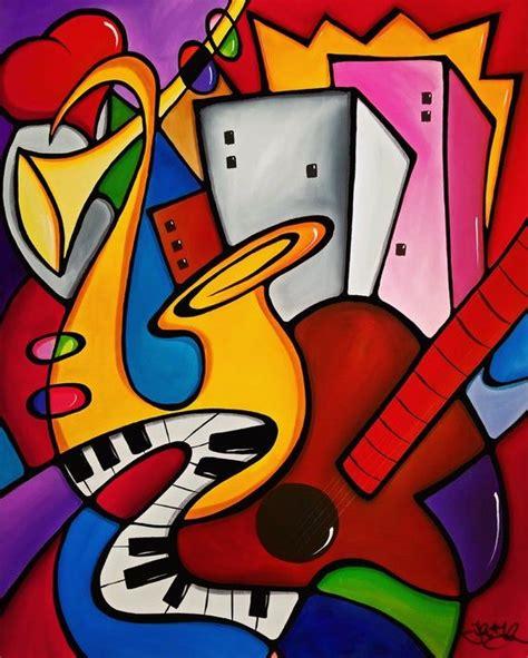 Abstract Modern pop Art original Seabreeze Jazz Fest 2019 ...