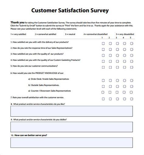 customer satisfaction survey 14 customer satisfaction survey sles sle templates