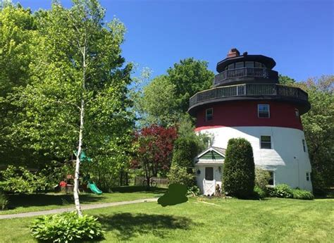 On The Market A Lighthouseshaped Home In Maine Boston