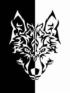 Tribal Wolf Clipart Black And White