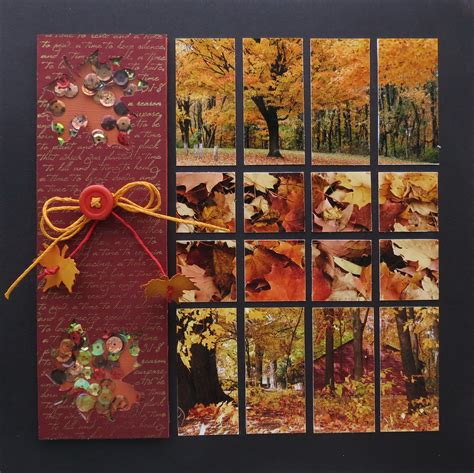 fall flourishes mosaic moments photo collage system