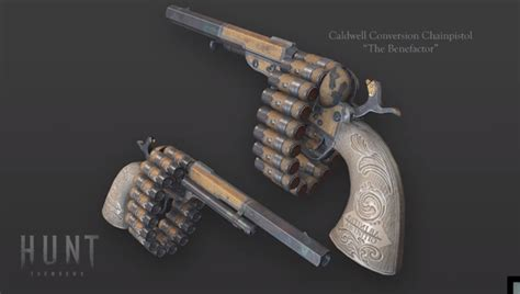 showdown hunt skin caldwell ps4 conversion weapon release legendary 27th august xbox benefactor huntshowdown dates pc fall purchased awarded exclusive