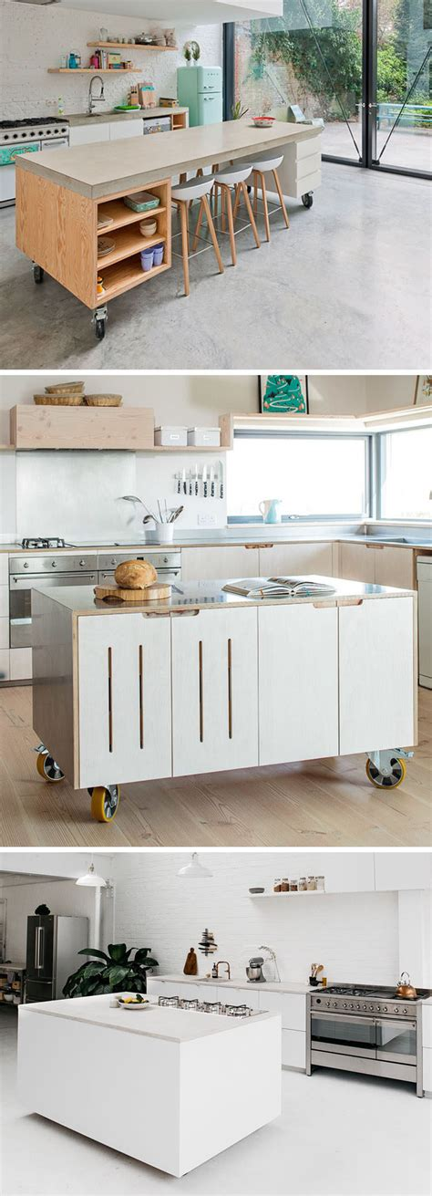 movable kitchen island 8 exles of kitchens with movable islands that it easy to change the layout contemporist