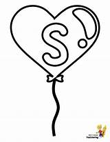 Coloring Pages Alphabet Valentine Number Valentines Easy Letter Balloon Printable Sheet Six Alphabets Yescoloring Hearts Children sketch template