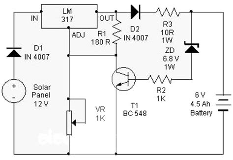 Solar Charger Use Electronic Circuit