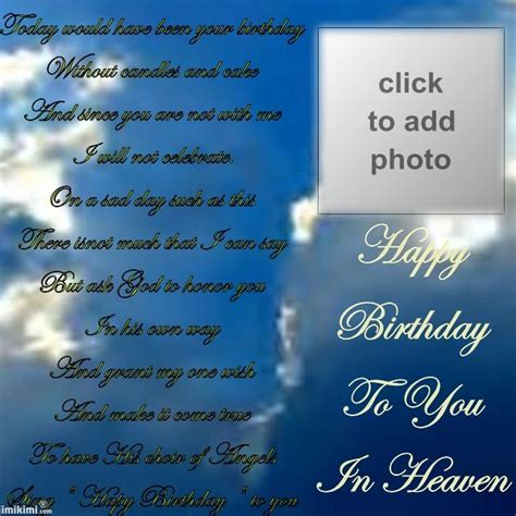 Happy Birthday In Heaven Images Remembering Your Birthday In Heaven Happy Birthday