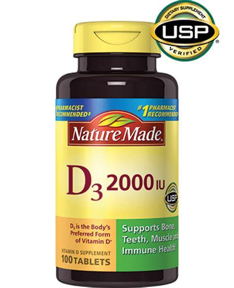 vitamin d l vitamin d3 2000 iu tablets nature made 174