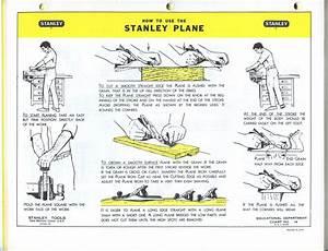 Stanley Handplane Instructions  Circa 1968