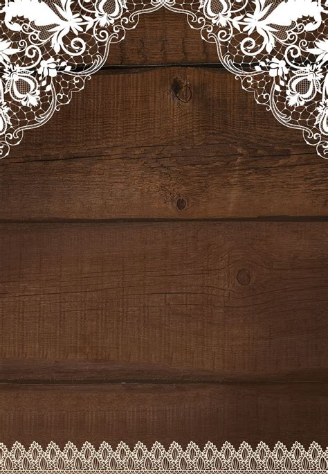 rustic lace wedding invitation template