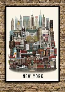 New York Poster : new york poster by martin schwatz ~ Orissabook.com Haus und Dekorationen