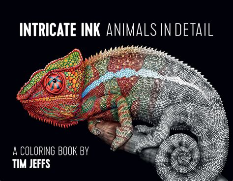 intricate ink animals  detail coloring book