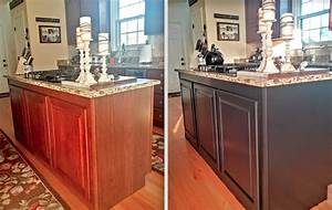 Painted Kitchen Cabinets Makeover {Before & After} - At