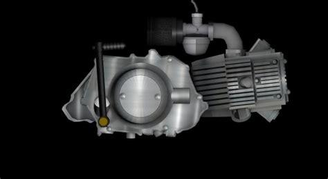 4-stroke Monkey Type Engine Free 3d Model