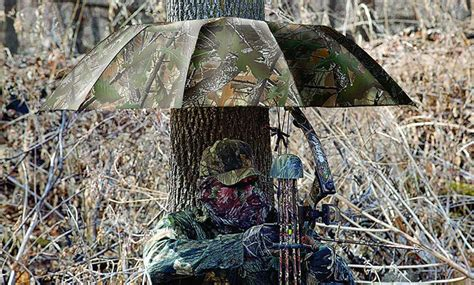 hunting camouflage deer stand tree camo rain blind umbrella roof gear thegearhunt money importance outdoor clothing