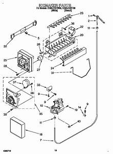 Icemaker Diagram  U0026 Parts List For Model Ed25uexhw00