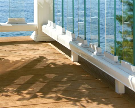 scenic glass baluster connectors deckorators