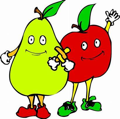 Cartoon Vegetables Fruit Fruits Clipart Animated Cliparts