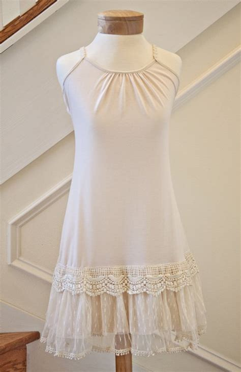 womens shabby chic clothing women s shabby chic ivory lacy bottom slip dress currently on back order