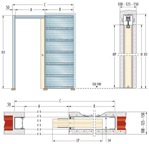 dimension meuble de cuisine formidable porte a galandage epaisseur cloison 4 porte coulissante 224 galandage syntesis174