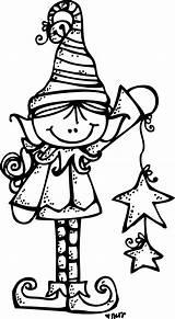 Elf Melonheadz Christmas Coloring Clipart Outline Clip Elves Pages Boy Winter Santa Transparent Duende Colors Navidad Cute Holiday Ornaments Crafts sketch template