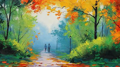 Nature Painting Wallpaper by Nature Graham Gercken Painting Fall Path Wallpapers Hd
