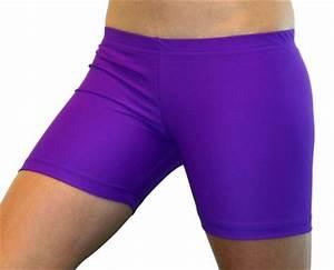 Bright Neon Purple 4 inch Inseam Spandex pression