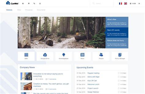 canwel intranet design sharepoint  portal design