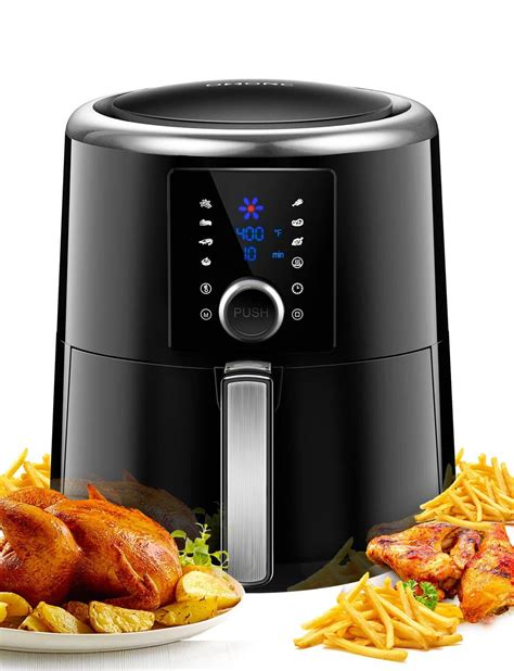 fryer air oven xl amazon omorc fryers rated 6qt convection vs cookbook deep preheat toaster 1800w fast quick knob oilless