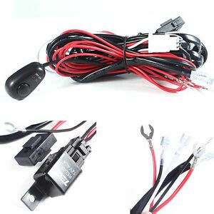 Relay Harness Wire Kit Led Off Switch For Fog Lights
