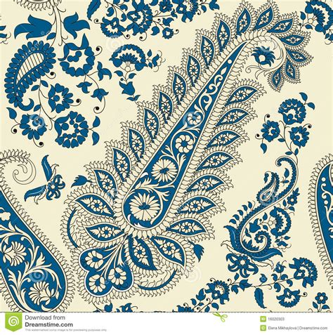 paisley stock vector image  leaf styled repeat