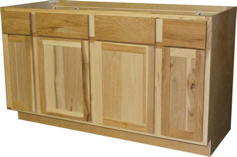 quality      unfinished hickory sink base