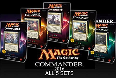 mtg commander decks 2016 commander 2016 mtg magic the gathering set of all 5 decks