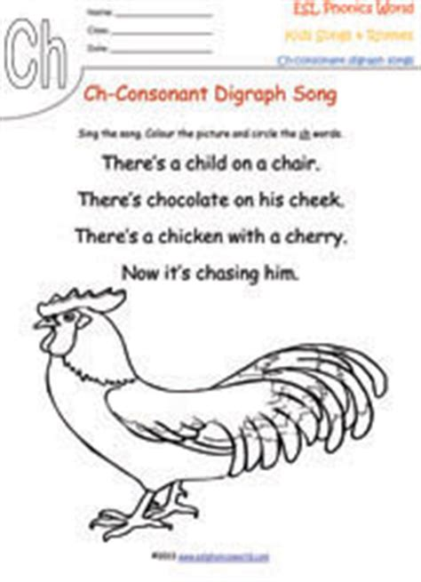Consonant Digraph Songs & Rhymes, Kids Phonics Digraphs For Nursery