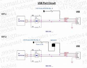 Bablu Notes  Usb Port Circuit Diagram And Its Problem In Desktop Motherboard