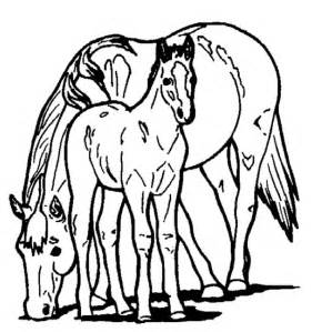 mother and baby horse coloring pages coloring pages - Mom Baby Horse Coloring Pages