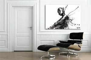 Grand Tableau Blanc : tableau noir et blanc decors muraux design izoa ~ Teatrodelosmanantiales.com Idées de Décoration