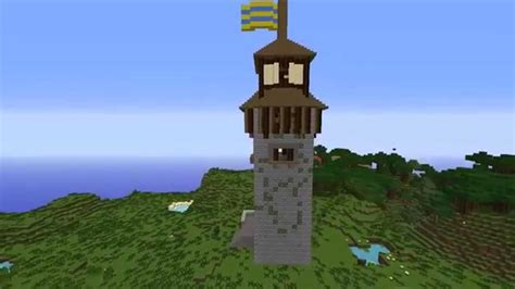 minecraft medieval castle tower youtube
