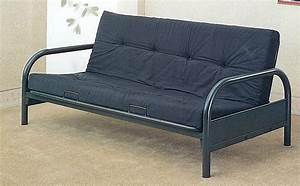 Metal frame futon bed bm furnititure for Metal frame futon sofa bed
