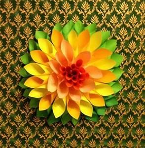 Blumen Aus Papier : gro e blumen aus papier falten dekoking diy bastelideen dekoideen zeichnen lernen ~ Udekor.club Haus und Dekorationen